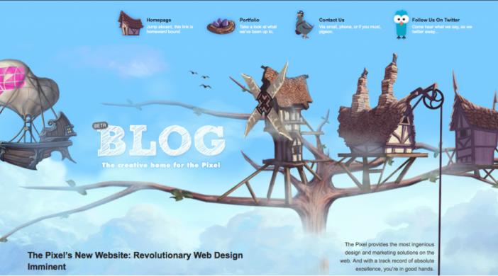 puslapio dizaino idejos